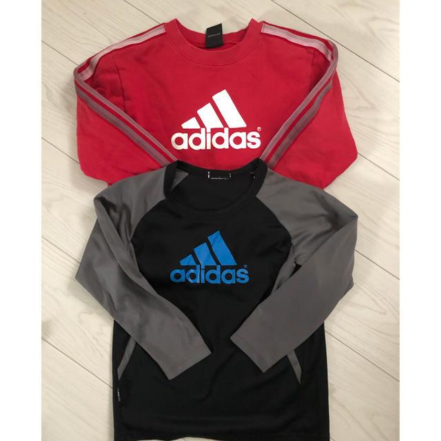 adidas(アディダス)のadidas130セット キッズ/ベビー/マタニティのキッズ服男の子用(90cm~)(ジャケット/上着)の商品写真