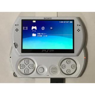 SONY  PSP GO パール・ホワイト 16GB メモリースティック付き!