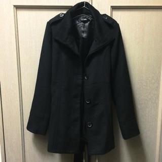 デュラス(DURAS)の【デュラス】腰ベルト付きコート 黒 フリーサイズ(ロングコート)