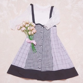 axes femme - 新品♡チェック♡バイカラースカート