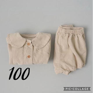 petit main - 即納◆ 韓国子供服 セットアップ ブラウス かぼちゃパンツ コーデュロイ 2点
