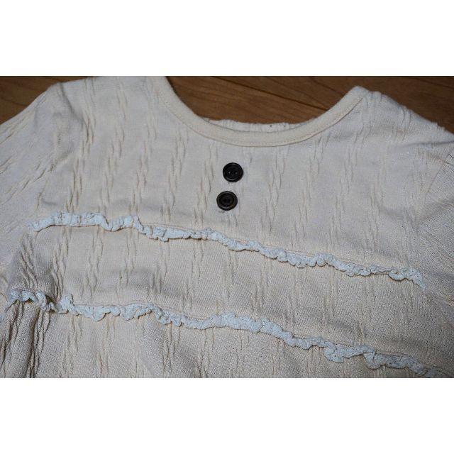 Biquette(ビケット)のビケット アイボリートップス 100 キッズ/ベビー/マタニティのキッズ服女の子用(90cm~)(Tシャツ/カットソー)の商品写真