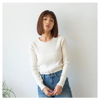 SeaRoomlynn - Vintage Fabric RIB Long-T キナリ