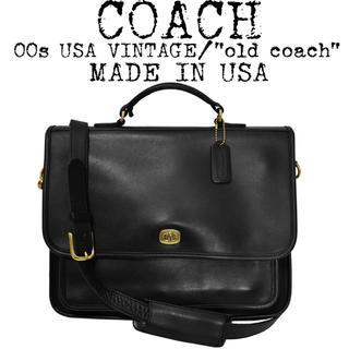 COACH - ★美品★COACH★オールドコーチ★2way ビジネスバッグ★USA製★ブラック