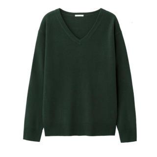 GU - カシミヤタッチVネックセーター(長袖)