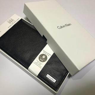 Calvin Klein - 【新品】カルバンクライン 財布 長財布 メンズ レザー 大容量 ブラック