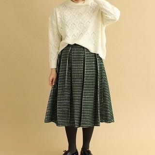 アトリエドゥサボン(l'atelier du savon)の大仏コーデュロイタックフレアースカート(¥6990より値下げ)(ロングスカート)