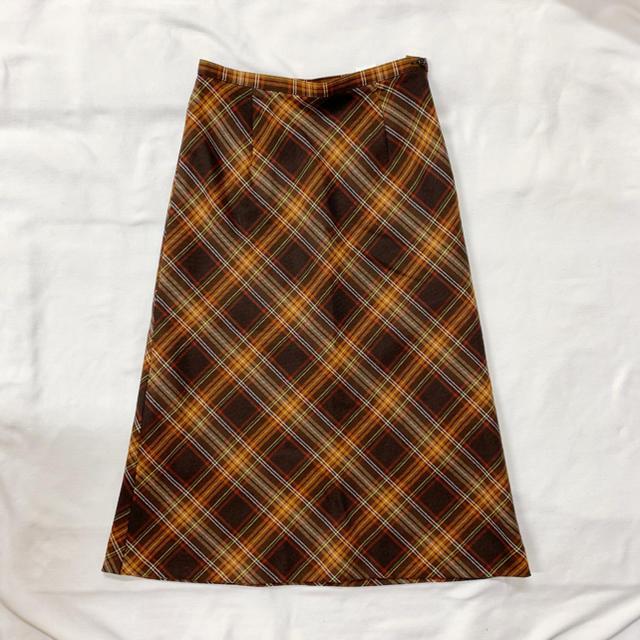 Lochie(ロキエ)のvintage チェック柄のクラシカルレトロスカート レディースのスカート(ロングスカート)の商品写真
