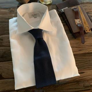 Gucci - 中古 美品 GUCCI グッチ  ネクタイ ネイビー系 斜めストライプ