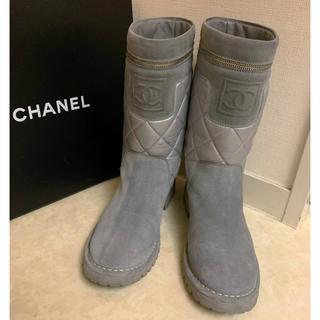 シャネル(CHANEL)の♥︎シャネル ブーツ エンジニア ☆ 37☆美品♪(ブーツ)