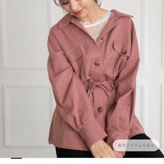 heather - Heather メランジロングシャツ ピンク