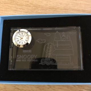 スヌーピー(SNOOPY)のスヌーピー ガラス置時計(置時計)