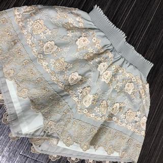 MERCURYDUO - ペールグリーン 刺繍パンツ