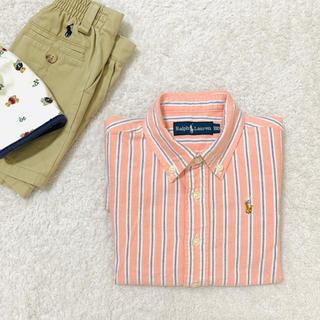 Ralph Lauren - Ralph Lauren 正規品 ワンポイント刺繍 ボーダーシャツ
