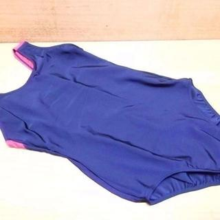 L●女子スクール水着サイズL(B86~94、H92~100)紺赤色未使用