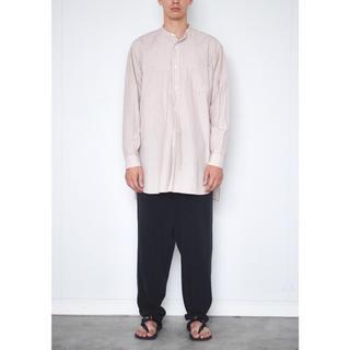 COMOLI - 【18ss】comoli バンドカラーシャツ  ピンクストライプ サイズ 1