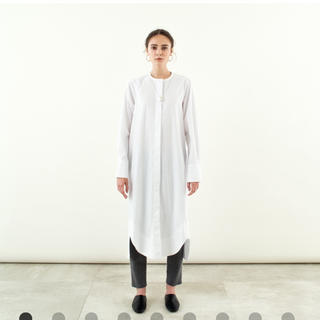 yonfa♡ cocoon shirt dress (white)