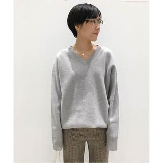 L'Appartement DEUXIEME CLASSE - 新品・タグ付き アパルトモン Middle gauge V/N KNIT グレー