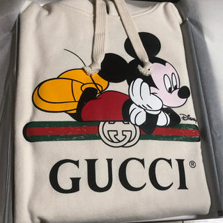 Gucci - 新品 GUCCI ディズニー 限定 パーカー ミッキー柄 新作 ホワイト グッチ
