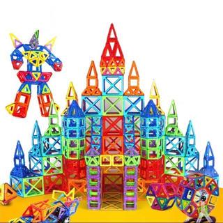【超人気★残り1セット】新品未使用未開封品★大容量110ピース★磁石ブロック(知育玩具)