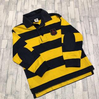 プチバトー(PETIT BATEAU)のプチバトー ラガーシャツ ポロシャツ  肘当て付き(Tシャツ/カットソー)