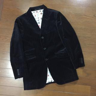 BURBERRY BLACK LABEL - バーバリーブラックレーベル☆モノグラム柄ベロアジャケット