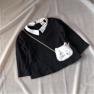 petit main - 美品◆ プティマイン petitmain トップス サイズ90 ネコポシェット