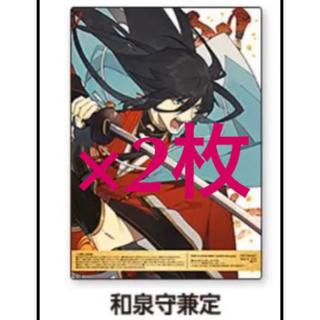 刀剣乱舞 第三弾 B5 クリアポスター 2枚セット 和泉守兼定(その他)
