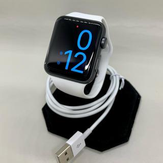 アップルウォッチ(Apple Watch)の【Applewatch】アップルウォッチ3 GPS42mm スペースグレー(腕時計)