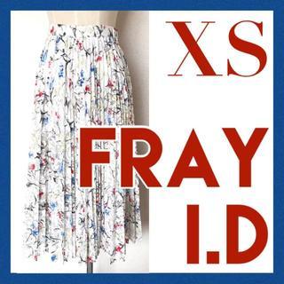 フレイアイディー FRAYI.D ロング プリーツ スカート レース 花柄 0(ロングスカート)