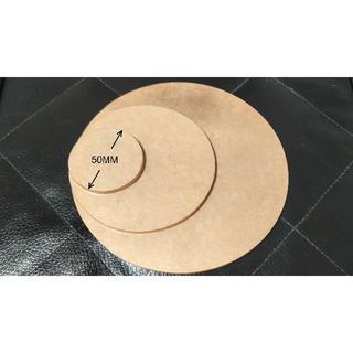 新品 アクリル台座 円形 透明 50MM*4MM(その他)