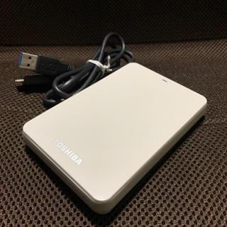 東芝 - 東芝 CANVIO HD-PB15TW ポータブルHDD 1.5TB 中古