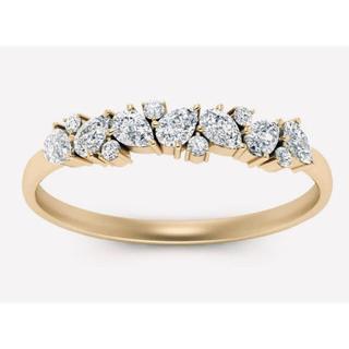 K18 イエローゴールド 0.45ct ダイヤモンド ハーフエタニティ リング(リング(指輪))