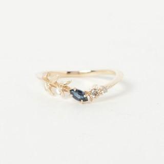 アガット(agete)のアガット サファイア&ダイヤモンドピンキーリング(リング(指輪))