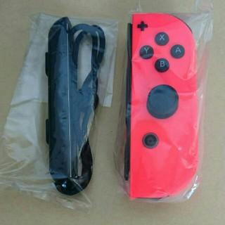 Nintendo Switch - 【新品・未使用】NINTENDO switch ジョイコン(R)ネオンレッド 右
