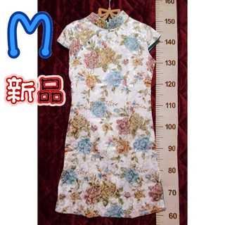 新品タグ付*M*チャイナドレス(ミディアムドレス)