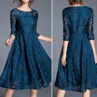 BestHit♡レースワンピース パーティードレス 結婚式 ドレス(ミディアムドレス)