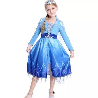 アナトユキノジョオウ(アナと雪の女王)のエルサ ドレス アナと雪の女王2 ❤️サイズ130(ドレス/フォーマル)