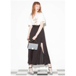Lily Brown - リリーブラウン ラップスカート付きショーパン ブラック