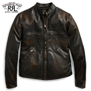【新品】RRL *旧デザイン*Slimfit Leather Jacket XS