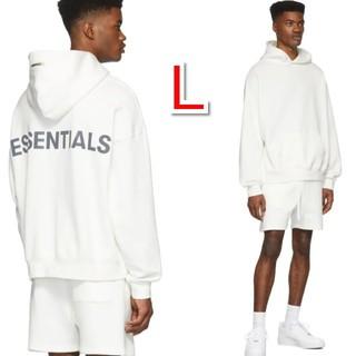 FEAR OF GOD - FOG essentials エッセンシャルズ パーカー ホワイト 白 Lサイズ