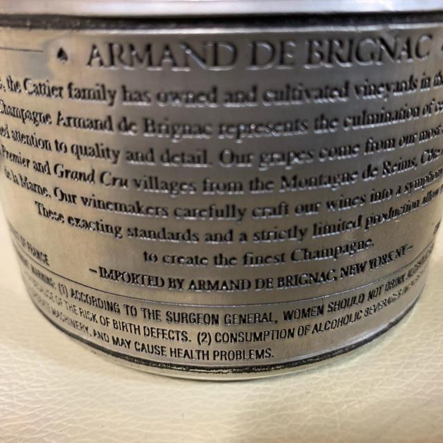 アルマンド ブリニャック ブランド ブラン シルバーボトル 箱・ソフトカバー付き 食品/飲料/酒の酒(シャンパン/スパークリングワイン)の商品写真
