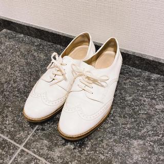 ルタロン(Le Talon)の引越しSALE❤️ルタロンホワイトシューズ(ローファー/革靴)