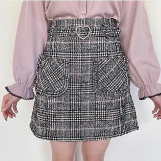 Honey Cinnamon - パールハートバックル台形スカート