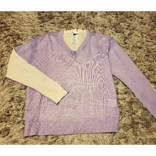 ダブルスタンダードクロージング(DOUBLE STANDARD CLOTHING)のダブルスタンダード ニット Vネック ピンク パープル Vネック(ニット/セーター)