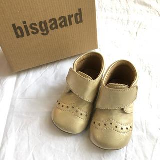 Bonpoint - Bisgaard ビスゴ ベビー レザーシューズ 新品 未使用 ゴールド 13