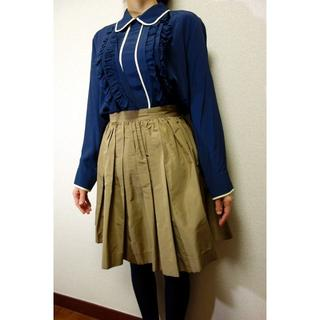 ミュウミュウ(miumiu)の【美品】MIUMIU フレアスカート ミュウミュウ サイズ40(ミニスカート)