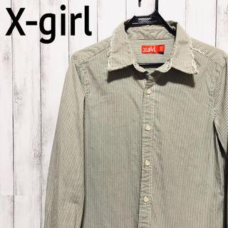 エックスガール(X-girl)のX-girl 長袖シャツ ストライプ レディース(シャツ/ブラウス(長袖/七分))