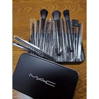 マック(MAC)の新品 MAC メイクブラシ 12本セット ケース付き(ブラシ・チップ)