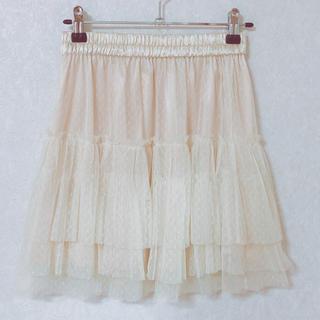 ダブルクローゼット(w closet)の新品wclosetダブルクローゼットチュールスカートペチコートスカート axes(ひざ丈スカート)